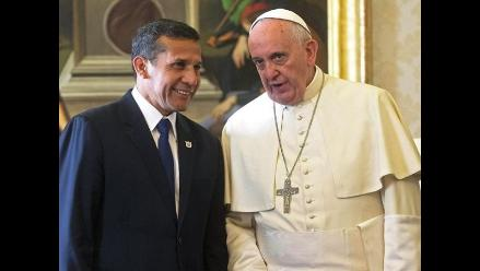Papa y Humala analizaron el desempleo juvenil y el respeto por mayores