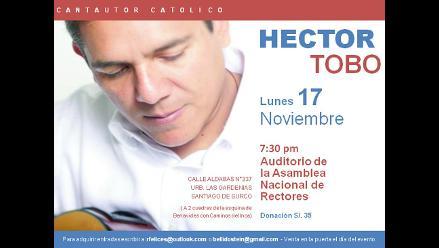 Hector Tobo se presenta en Lima el lunes 17
