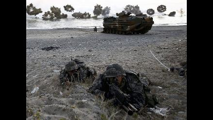 Corea del Sur realizó desembarco anfibio durante ejercicio militar