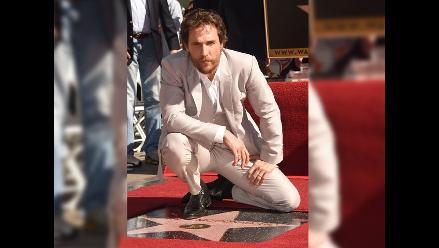 Matthew McConaughey recibió su estrella en el Paseo de la Fama