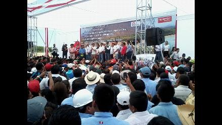 Chiclayo: presidente Ollanta Humala inauguró proyecto Olmos