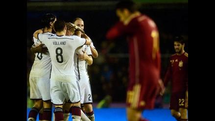 Alemania venció 1-0 a España y le cortó una racha 34 partidos invicto de local