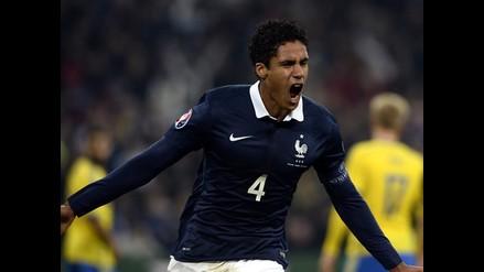 Raphael Varane se convierte en héroe de Francia ante Suecia en amistoso