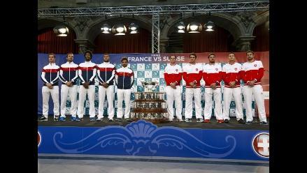 Copa Davis: Final se abre con duelos Tsonga-Wawrinka y Monfils-Federer
