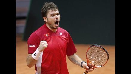 Final Copa Davis: Wawrinka gana a Tsonga y da primer punto a Suiza