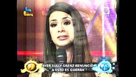 EEG: Sully Sáenz no quiere volver al reality