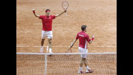 Copa Davis: Federer-Wawrinka dan el punto de dobles a Suiza ante Francia