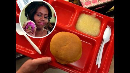 EE.UU: escolares culpan a Michelle Obama por malos almuerzos