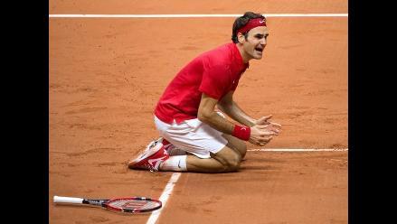 Copa Davis: Federer y su llanto tras darle a Suiza su primera ´Ensaladera´