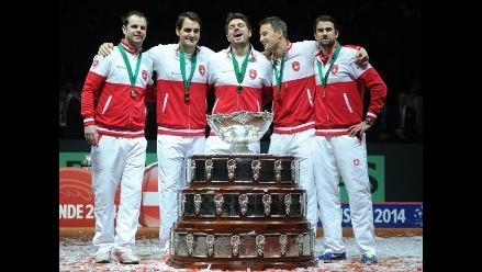 Copa Davis: Roger Federer da su primera ´Ensaladera´ a Suiza