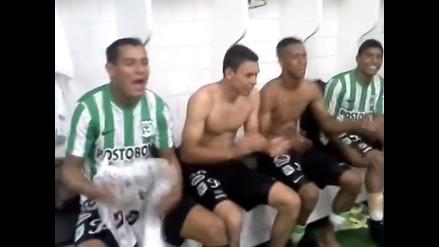 Atlético Nacional celebró en camerinos llegar a la final de Sudamericana