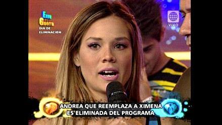 EEG: Andrea San Martín fue eliminada del programa