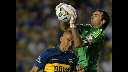 River Plate: Barovero le ataja penal a Gigliotti de Boca Juniors