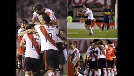 River Plate-Boca Juniors: Las imágenes de la victoria del equipo ´millonario´
