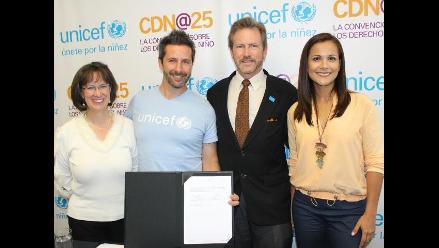 Marco Zunino es un nuevo embajador de Unicef en el Perú