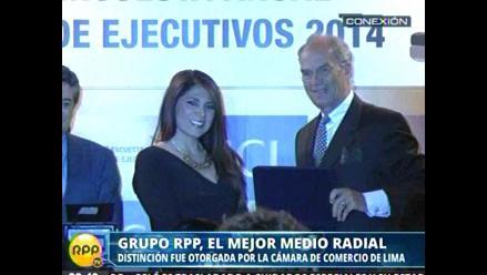 Cámara de Comercio distingue a RPP Noticias como el mejor medio radial