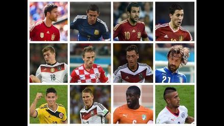 FIFA anuncia a los volantes preseleccionados para el Once Mundial 2014