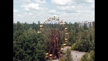 Un dron graba desde el aire la ciudad fantasma de Chernobyl