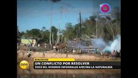 La minería informal amenaza al medioambiente en Ayacucho