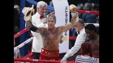 Mickey Rourke volvió al ring a sus 62 años