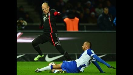 Bayern Munich vence 1-0 al Hertha Berlin con anotación de Arjen Robben