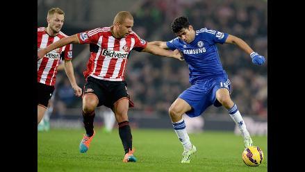 Chelsea empató 0-0 con Sunderland y sigue liderando la Premier League
