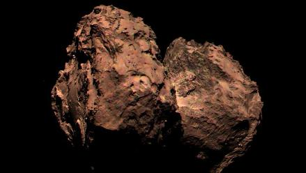Sonda Rosetta envía primera foto a color del cometa 67P