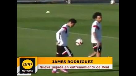 Real Madrid: James Rodríguez se divierte con Marcelo en entrenamientos