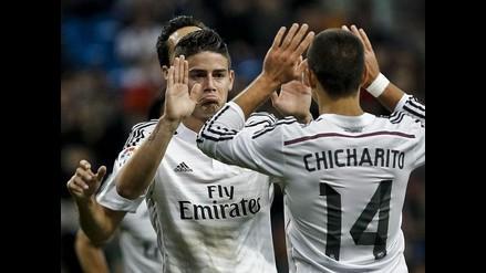 Real Madrid goleó 5-0 a Cornellá con doblete de James Rodríguez