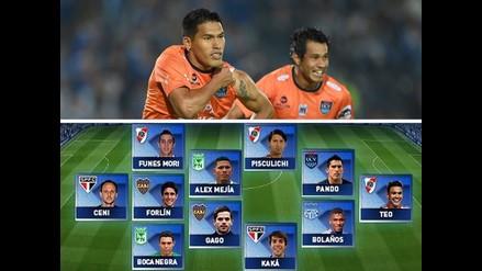 Andy Pando integra el equipo ideal de la Copa Sudamericana 2014