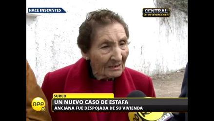 Mujer de 90 años denuncia el despojo de su vivienda de 6 millones de soles