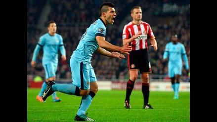 Manchester City venció 4-1 al Sunderland con doblete del