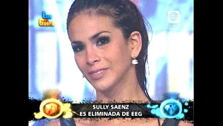EEG: Sully Sáenz quedó fuera del programa