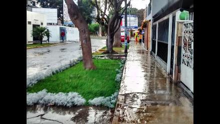 Inusual lluvia sorprendió a trujillanos por una hora
