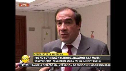 Yonhy Lescano: Yo no soy ningún mafioso