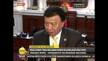 Comisión López Meneses: Wong acusa a Díaz Dios de hacer pataleta