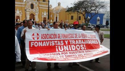 Trujillo: cientos de fonavistas salen a las calles para reclamar aportes