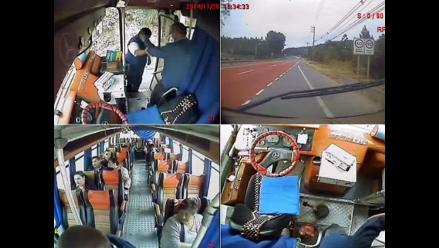 YouTube: Chofer de bus fue aplaudido por su gesto ejemplar