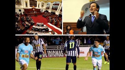 Pasó hoy: Congreso aprobó presupuesto de S/.130,621 millones para 2015, Díaz Dios acusa a Lescano de obstrucción en caso OLM y Cristal venció 1-0 a Alianza y es campeón del Clausura