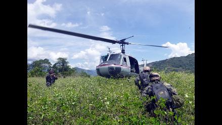 Vraem: fuerzas del orden capturan avioneta boliviana que llevaba droga