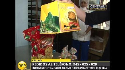 Internos presentan el delicioso Panetón Sarita Colonia de Quinua