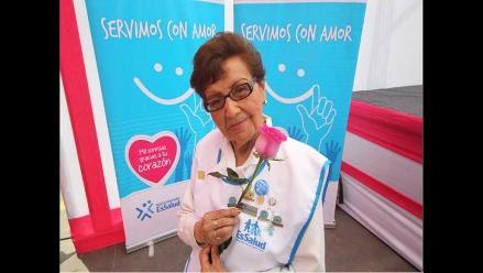 Margarita Mendoza de Seminario: La voluntaria más longeva de EsSalud