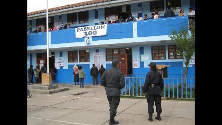 Huancayo: llegaron tarde a instalación de mesas de sufragio