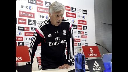 Carlo Ancelotti no se hace dramas por ausencia de titulares en Champions