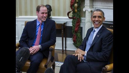 Príncipe Guillermo se reúne con Barack Obama en la Casa Blanca
