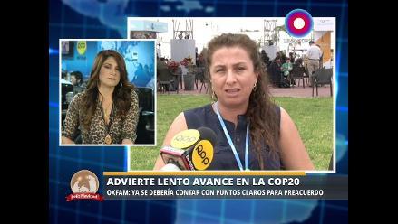 OXFAM advierte lento avance de la COP20