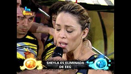 EEG: Sheyla Rojas quedó fuera de la competencia