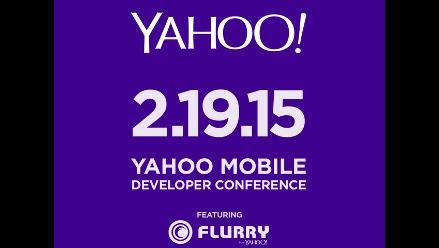 Yahoo realizará una conferencia de desarrolladores móviles