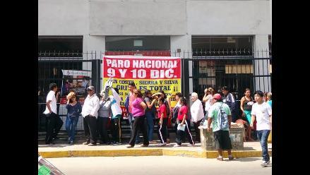 Ica: trabajadores del Banco de la Nación protestan en paro de 48 horas