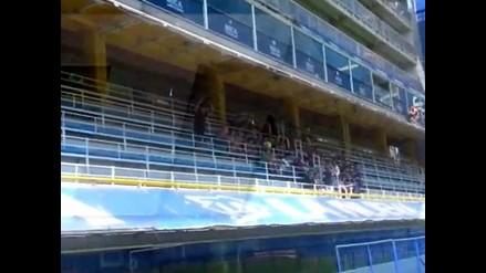 Sudamericana: Hinchas de Atlético Nacional arman previa en La Bombonera